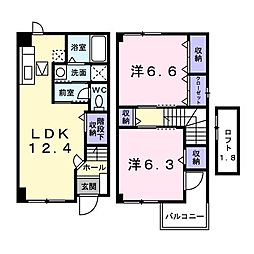イーストガーデン[1階]の間取り