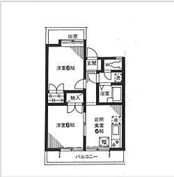 神奈川県横浜市磯子区東町の賃貸アパートの間取り