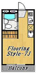 フローラ8[3階]の間取り