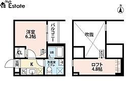 愛知県名古屋市昭和区福江1丁目の賃貸アパートの間取り