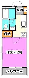 東京都練馬区南大泉4丁目の賃貸アパートの間取り