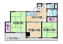 伊藤水産コーポ[5階]の間取り