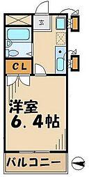 ロイヤルハイツ堀之内[514号室]の間取り