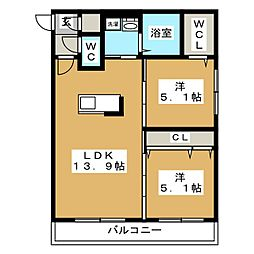 LIEN N33[4階]の間取り