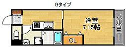 マリーナ帝塚山[2階]の間取り