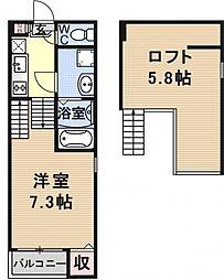 仮称)京都市山科区大宅関生町SKHコーポ[B201号室号室]の間取り