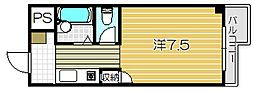 トレンディア松原[302号室]の間取り