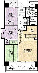 URアーバンラフレ虹ヶ丘西8号棟[3階]の間取り