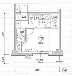 リヴシティ新宿壱番館[405号室]の間取り