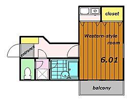 プリムヴェールIII[1階]の間取り