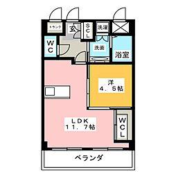 荒巻ビル[4階]の間取り