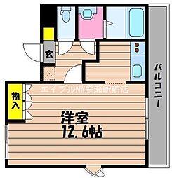 岡山県総社市福井丁目なしの賃貸アパートの間取り