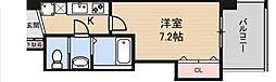 Luxe鶴見 5階1Kの間取り
