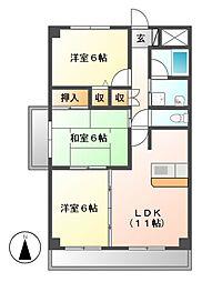 エトワール千代田[6階]の間取り