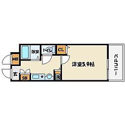 ランドマークシティ大阪城南[8階]の間取り