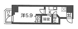 ブリリアントコート農人橋[6階]の間取り