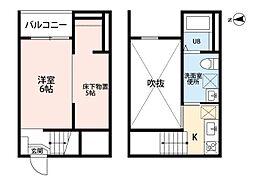 愛知県春日井市味美町2丁目の賃貸アパートの間取り