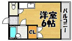 西田レジデンスA棟.[101号室]の間取り