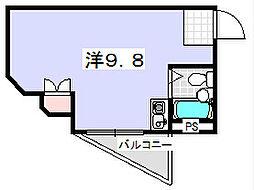 セヴィア岡山手[112号室]の間取り