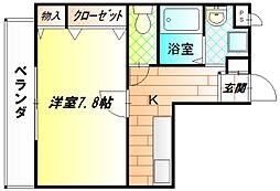 ボワリジェールOKA[2階]の間取り