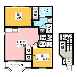 クレストールONODA[2階]の間取り