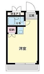 ランドフォレスト東豊田[206号室]の間取り
