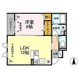 (仮)D-room新川6丁目 11a[1階]の間取り