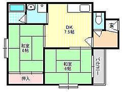 グランドール2番館[3階]の間取り