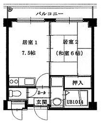 第7浦濱ビレッジ[3階]の間取り
