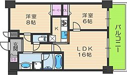 D-room天神橋1丁目[12階]の間取り