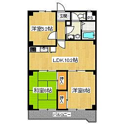 メゾン・ハツミノ[3階]の間取り