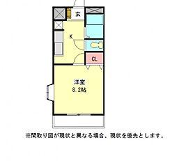 愛知県一宮市泉2丁目の賃貸アパートの間取り