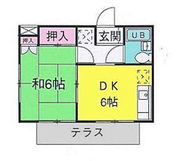 千葉県八千代市萱田の賃貸アパートの間取り