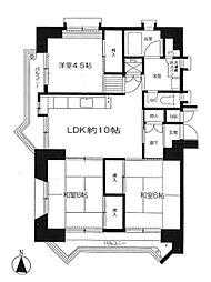 若葉台第一住宅26号棟[5階]の間取り