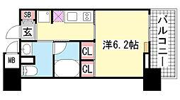 レジディア神戸元町[7階]の間取り