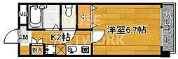 スクエア西賀茂[205号室号室]の間取り