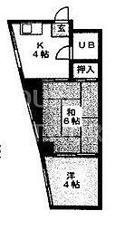 ハイツ里ノ前[3-D号室号室]の間取り