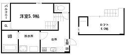東九条石田町SKHコーポ[2階]の間取り
