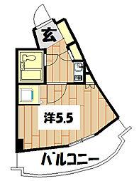 パレ・ドール鶴ケ峰[208号室]の間取り