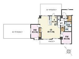 3方角部屋 ルーフバルコニー ペット可 リナージュ武蔵藤沢