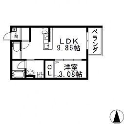 la glaycine東大阪(ラ グリシーヌ ヒガシオオサカ)[101号室号室]の間取り