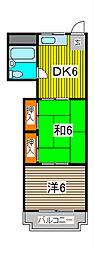 富士見ビル[4階]の間取り