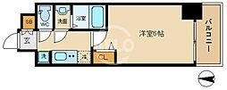 ララプレイス大阪新町ヴェレ 6階1Kの間取り