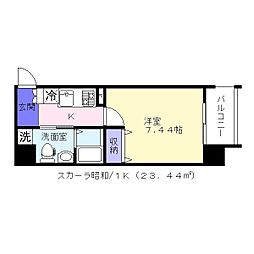 スカーラ昭和町[6階]の間取り