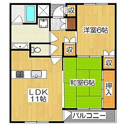 ハウスガーデンヒル[3階]の間取り