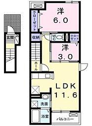 ティンカーベル[2階]の間取り