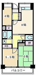 ソレイユ久保[604号室]の間取り