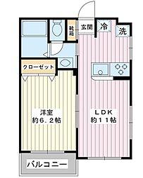 第2金子マンション[105号室]の間取り