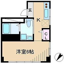 千石柳沢マンション[4階]の間取り