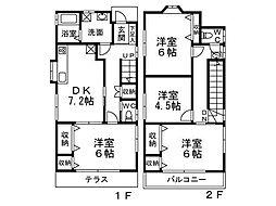 [一戸建] 東京都杉並区浜田山1丁目 の賃貸【/】の間取り